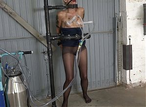tiny tits cuffed and milked