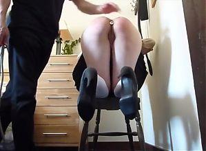 Slave's ass got Caned