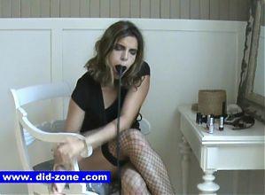 Lipstick Blowjob - DiD-Zone.com - Tied up Blowjob Cuffed