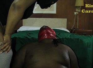 Ebony Spitting & Ass Smothering Preview