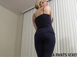 Check out the new yoga pants I just bought JOI