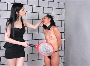 Lezdom debutant Pollys domination by Karina Cruel punishing