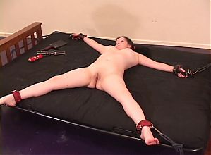 Two sluts enjoy bondage and sixty-nine on futon