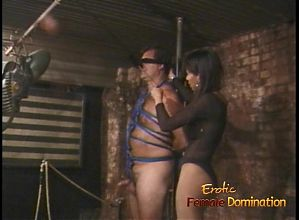 Lovely Asian bitch enjoys pleasuring bound and blindfolded