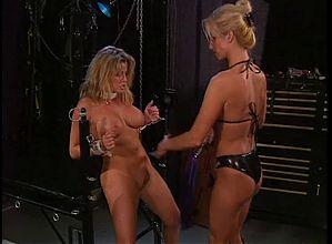 2 smoking hot big tit lesbians into BDSM