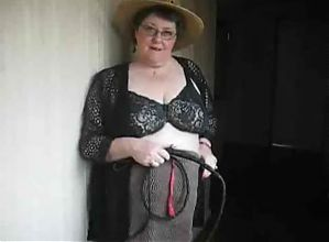 Sexy bbw grandma with strap on