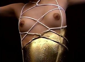 Gold Paint Girl