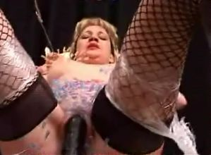 Blond slave pincushion boobs 2 of 2