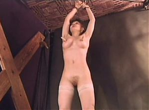 Young Raffaela Anderson in light BDSM video