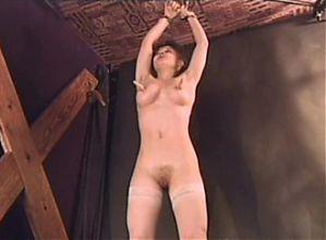 Young Raffaela Anderson in light BDSM video