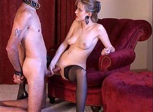 Mistress Sweet T0rtur3 (Handjob T&D Forc3d Cumlick)