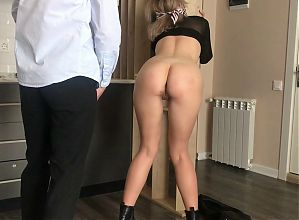 Light BDSM. Hot wax on the ass is the best gift for whore