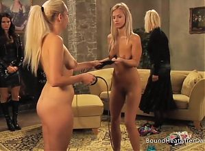 Enslaved Girls Whipping Each Other In Front Of Mistress