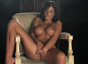 Smoking brunette - 11