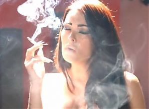Smoking brunette - 9