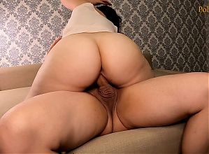 I play with his ass with tongue, finger and big dick