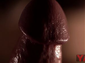 Close-up penis massage