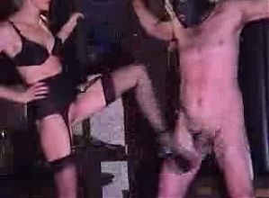 Femdom-Kicking Male Slave In Stomach & Balls- Ballbusting