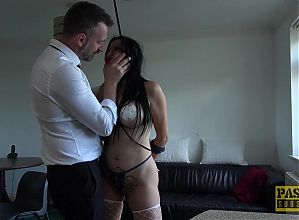 PASCALSSUBSLUTS - UK Bombshell Damaris Dominated By Master