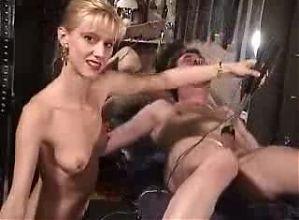 BDSM-Electro t0rture bondage -urethral penetration