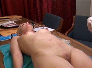 spanked on her sore bottom