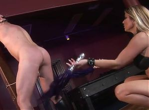 Horny Mistress using her slave