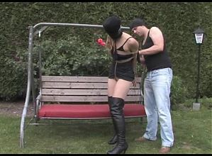 Submissed.com Blonde over-powered and hogtied