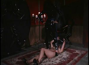 Mistress chokes and tease slave