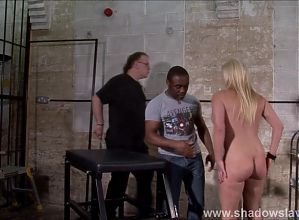Interracial needle bdsm of busty German slave Melanie Moon