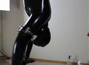 Latex Bondage Blowjob