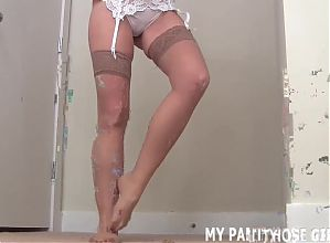 You can jerk off to me in my pantyhose if you want JOI
