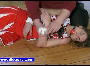 Cheerleader Captured - DiD-Zone.com - Tied up Gagged Sexy
