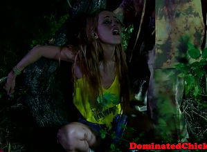 Slave whipped outdoors by rough master