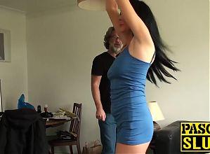 Sexy slut Jess Scotland getting tied up and fucked hardcore