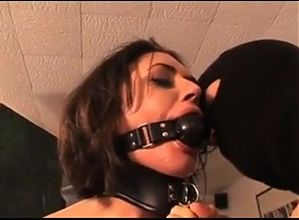 Submissive BDSM slut gets her face USED!.