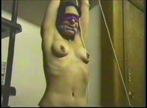 Bondage Milf tied hanging