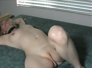 Flogging while tied to the bed