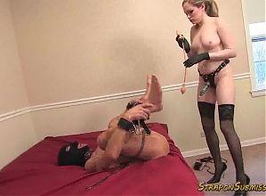 Mistress Chloe femdom pussy worship and strapon