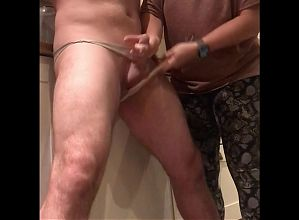 Dom Wife beats husband's balls